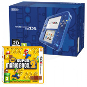 Nintendo 2DS (prozorni, blue) + New Super Mario Bros. 2