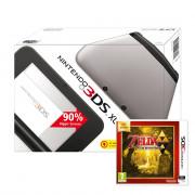 Nintendo 3DS XL (Black & Silver) + The Legend of Zelda A Link Between Worlds