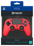 Playstation 4 (PS4) Nacon Wired Compact kontroler (rdeč)