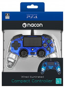 PlayStation 4 (PS4) Nacon Wired Compact žični kontroler (Illuminated) (Blue)