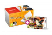 New Nintendo 2DS XL (White-Orange) + Pokemon Ultra Sun + Yokai Watch 2 FL