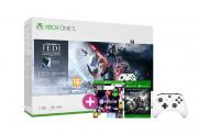 Xbox One S 1TB + Star Wars Jedi Fallen Order + FIFA 21 + Gears of War 4 + dodatni kontroler (beli)