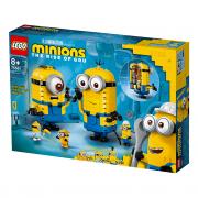 LEGO Minions Iz kock sestavljeni Minioni v njihovi votlini (75551)