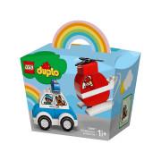 LEGO DUPLO Hasičský vrtuľník a policajné auto (10957)