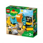 LEGO DUPLO Tovornjak in bager na gosenicah (10931)