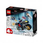 LEGO Super Heroes Spopad med Stotnikom Amerika in Hydro (76189)