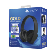 Sony Playstation Gold Wireless Headset (7.1) + Fortnite Neo Versa Bundle