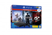 PlayStation 4 (PS4) Slim 1TB + Horizon Zero Dawn Complete Edition + Uncharted 4 + Gran Turismo Sport (PlayStation Hits)