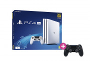 PlayStation 4 (PS4) Pro 1TB Glacier White + PS4 Sony Dualshock 4 Wireless kontroler