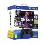 Playstation 4 (PS4) Dualshock 4 kontroler (črni) + FIFA 21